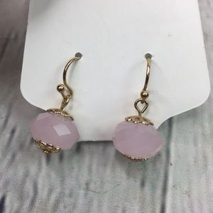 5/$25 Victorian chic pink ball drop dangle